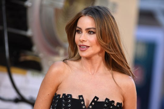 """Sofia Vergara arrives for the premiere of Sony Pictures' """"Once Upon a Time... in Hollywood"""" in Hollywood, California on July 22, 2019."""