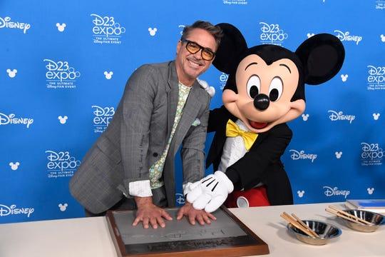 Robert Downey Jr. attends D23 Disney Legends event at Anaheim Convention Center on Aug.23, 2019 in Anaheim, Calif.