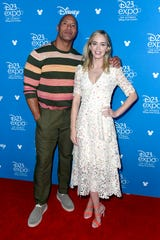 """(L-R) Dwayne Johnson and Emily Blunt made a joint appearance for """"Jungle Cruise"""" at D23."""