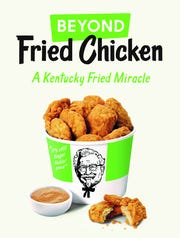 KFC is testing a plant-based chicken called Beyond Fried Chicken.