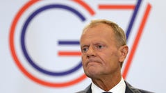 """European Council President Donald Tusk, speaking at the annual G7 summit in Biarritz, France, warns that the European Union will respond """"in kind"""" if President Donald Trump follows through on his threat to slap tariffs on French wines."""