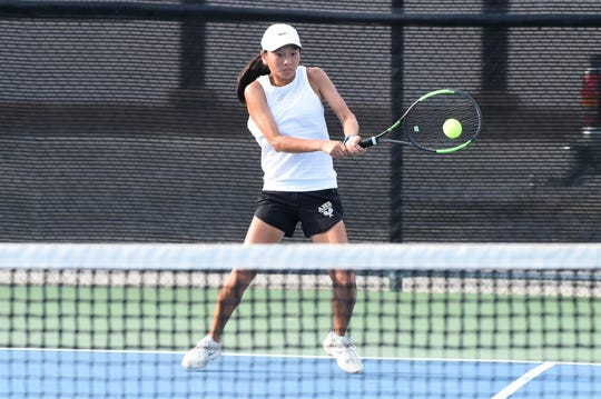 Abilene High's Ruth Hill was named the District 3-6A Most Valuable Girl, first-team all-district No. 1 girls singles player and first-team all-district No. 1 doubles team with Kaitlyn Strain. The Eagles swept the all-district first-team girls singles and girls doubles teams.
