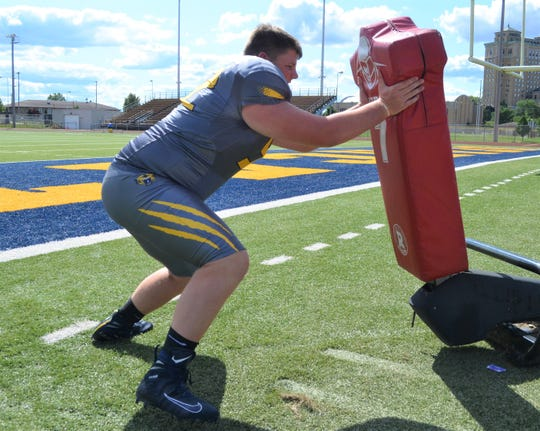 Battle Creek Central's Kyler Granger is a standout offensive lineman and is getting offers at the Division II level for college.