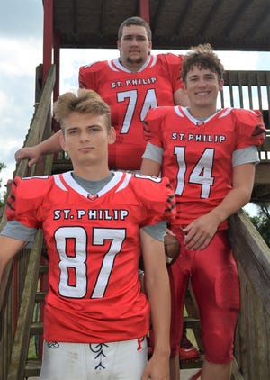 St. Philip returning leaders, from top, Nathan Bennett, Conor Gausselin and Gus Strenge.