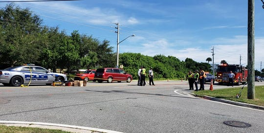 Cocoa Beach police investigate a deadly crash along the 3300 block of N. Atlantic Avenue.