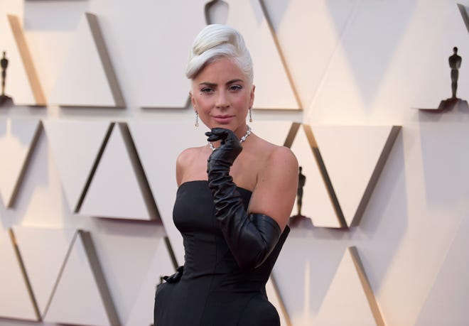 Lady Gaga at the Oscars in 2019 in Los Angeles.