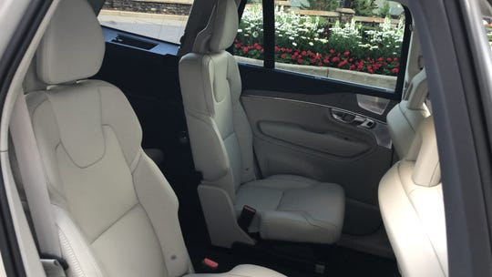 Second-row bucket seats are available in Volvo's 2020 XC90 SUV.