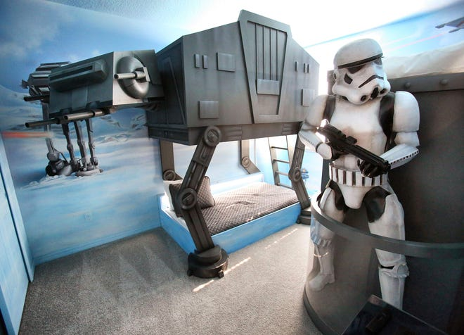 Scenes from the vacation rentals in the Solara and Reunion resort-home neighborhoods of Kissimmee that feature Star Wars-themed kids bedrooms, photographed Wednesday, July 24, 2019. (Joe Burbank/Orlando Sentinel/TNS)