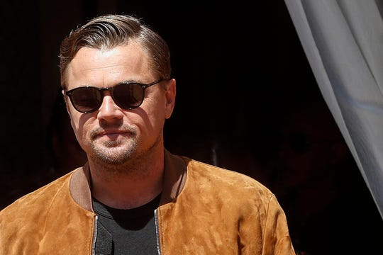 "Leonardo DiCaprio poses during the photo call for the Italian premiere of the movie ""Once Upon A Time... in Hollywood,"" in Rome, Saturday, Aug. 3, 2019. (Riccardo Antimiani/ANSA via AP)"