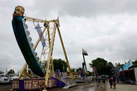 The Sandusky County Fair, seen here Tuesday, was closed early Saturday night due to several fights breaking out at the fairgrounds. There were four arrests made and the fair will be open Sunday from 10 a.m. to 9 p.m.