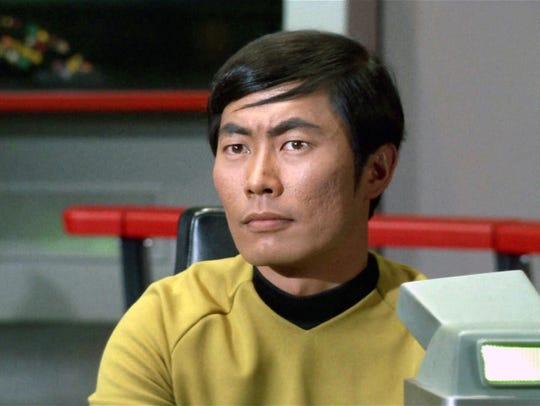 George Takei as Hikaru Sulu in 'Star Trek,' in 1968.