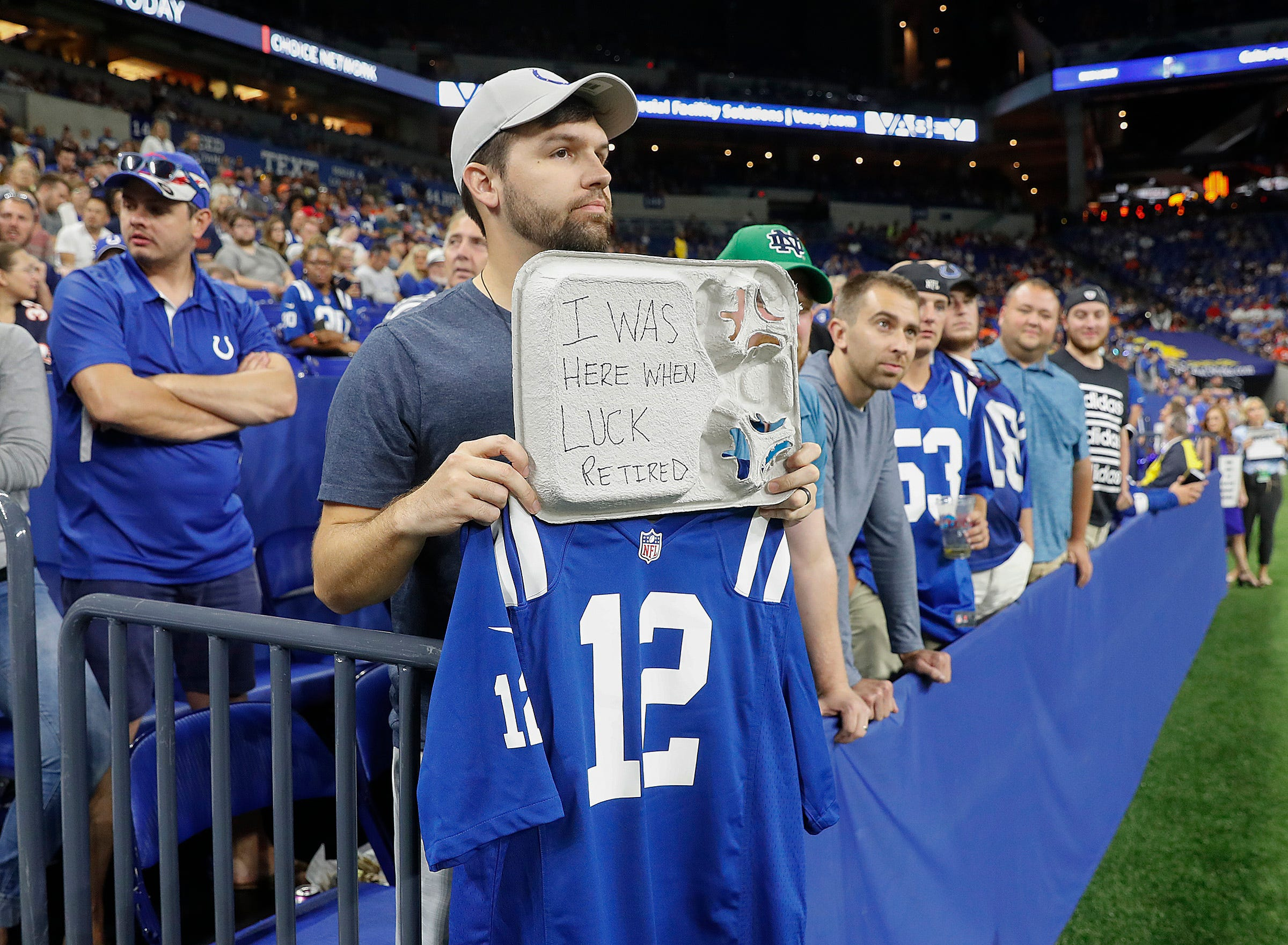 This guy says he  broke the Andrew Luck retirement news to Indianapolis Colts players