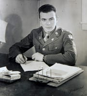 Army Air Corps Cpl. Paul Melrood with the 53rd Air Group at MacDill Field in Tampa, Florida.