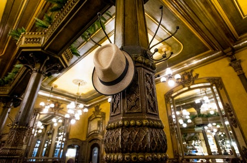 I hung my hat at one of Hemingway's old haunts, the Café Iruna.