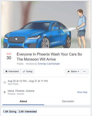 Facebook event screenshot
