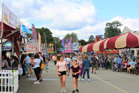 Hundreds of people showed up at the Dutchess County Fair on Sunday, Aug. 25, 2019.