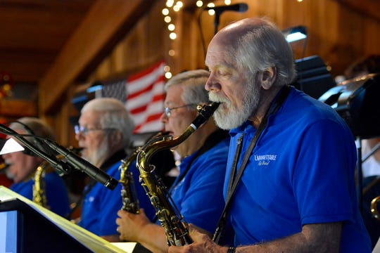 The Unforgettable Big Band performs on the last night of business for York's oldest winnery, Naylor Wine Cellars, Saturday, August 24, 2019. Allegro Winery purchased their neighbor after long-time wine maker Dick Naylor passed away December 10.John A. Pavoncello photo