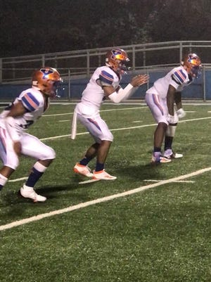 York High quarterback Tobee Stokes gets ready to take a snap on Friday night vs. Pittsburgh Central Catholic.