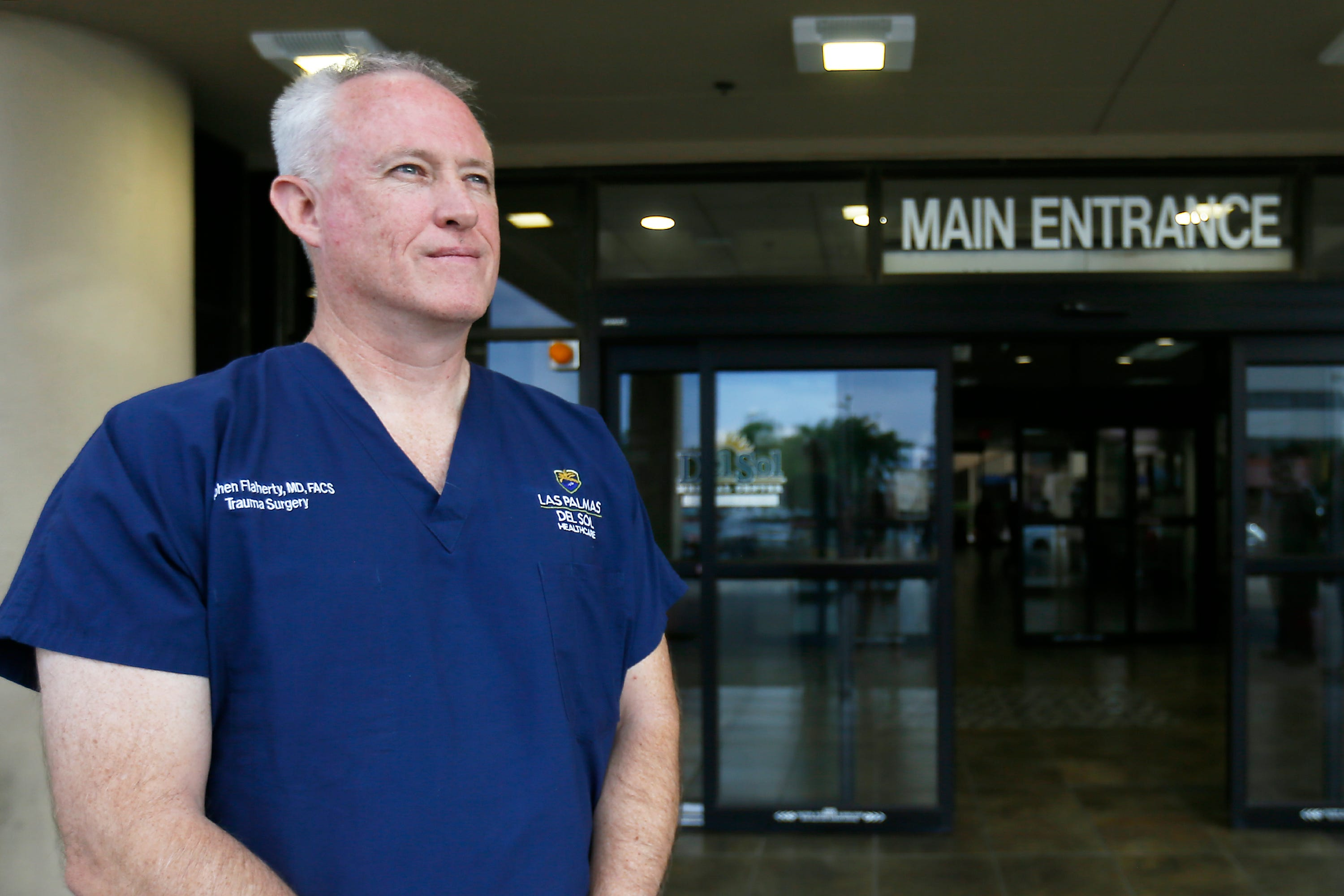 Dr. Stephen Flaherty, medical director of trauma at the Del Sol Medical Center in El Paso, talks about the day of the Walmart shooting. Flaherty was among doctors who assisted shooting victims.