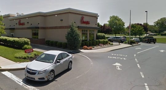 The line for the drive-thru at Chick-fil-A in Bear frequently spills out onto the street.