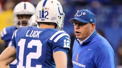 Bruce Arians was Andrew Luck's first offensive coordinator.