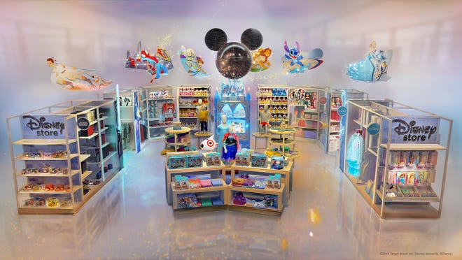 Target and Disney are teaming up and will open 25 Disney stores in Target locations Oct. 4. This is a rendering of how a location will look.