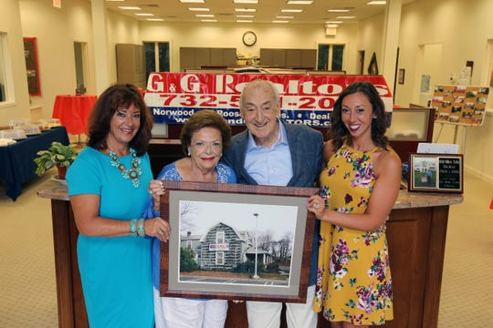 Abby Scheer, broker of record, Nancy Gerechoff, vice president, Irwin Gerechoff, president, and Samantha Scheer, broker, talk about their business, G and G Realtors, a 52-year-old third-generation real estate agency, at G and G Realtors in Oakhurst, NJ Friday, August 23, 2019.
