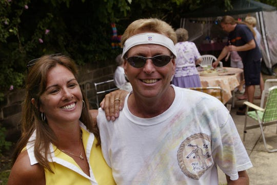 Kenneth Harmer, right, with second wife Christine Harmer in 2003, during a party celebrating his 15th year after a heart transplant.
