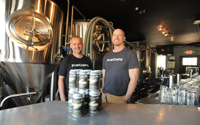 John Richardon, right, and J.P. Kennedy will launch PubCorps with a Sunday Brunch Launch at the Asheville Masonic Temple on Sept. 15. The organization will tap into area restaurants, breweries and more to create volunteer opportunities.