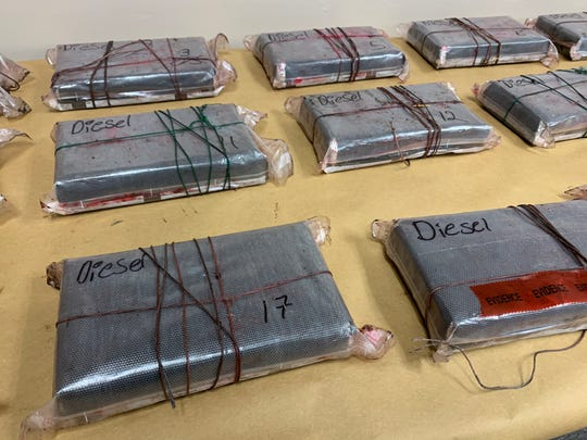 Kleberg County Sheriff's Office deputies seized several bundles of cocaine in a vehicle traveling on U.S. Highway 77 on Aug. 24, 2019.