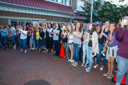 A big crowd gathered to greet Haddonfield native Scott Patterson at Saturday's Kings Court event.
