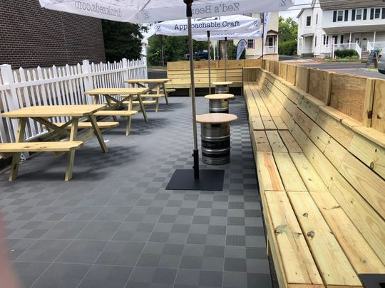 The new 'Front Porch' at Zed's Beer in Marlton offers eating options and a place to relax.