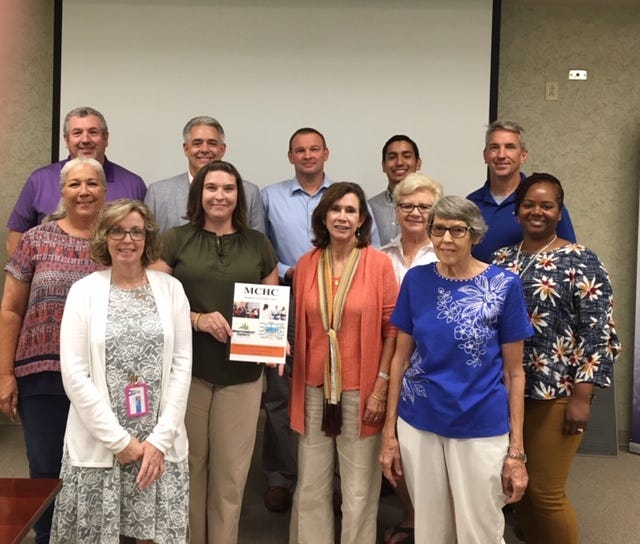 Back row (left to right): Tim Swaw, Jay Albertia, Joey Smith, Isaiah Hurtado, Rich Holladay, middle row: Candis Batey, Carlye Sommers, Dr. Patty Orr, Loretta Bryant, Tanya Johnson, front row: Patti Hill and Bertha Drew.