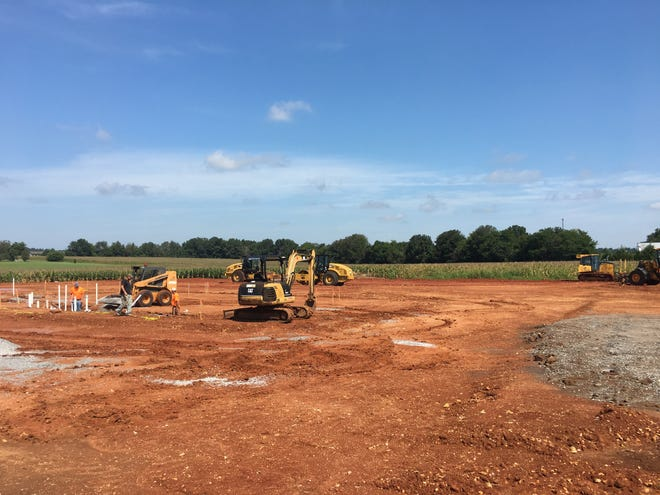 Site work is under way at the newest location of Arby's fast food restaurant in Clarksville.