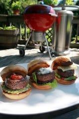Beef sliders three ways.