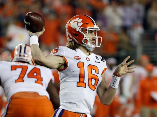 Quarterback Trevor Lawrence led Clemson to a national title as a freshman.