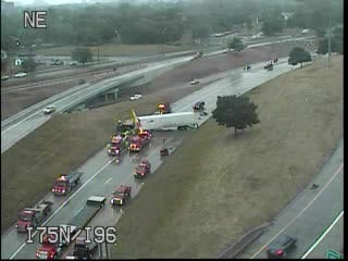 The crash on Interstate 75 at Interstate 96 in Detroit closed southbound lanes on I-75, transportation officials said Monday evening.