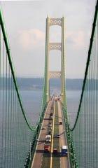 Maintenance crews are giving the Mackinac Bridge a new coat of paint.