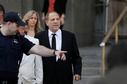 Harvey Weinstein leaves court, Monday, Aug. 26, 2019 in New York.