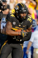 Missouri running back Larry Rountree III rushed for 1,216 yards last season.