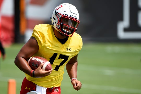 Former Saline star Josh Jackson, who is a graduate transfer from Virginia Tech, has been named Maryland's starting quarterback.