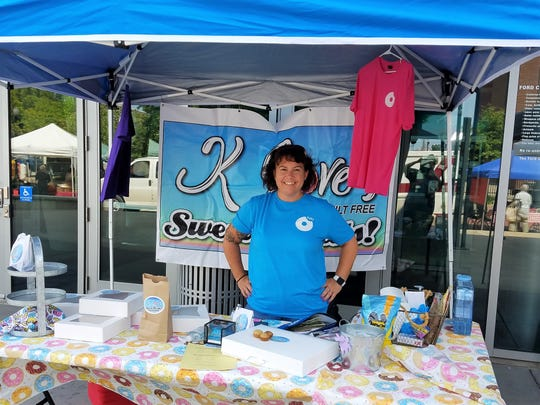 Kelly Loveall can be found with her sweet treats every Wednesday morning at Evansville's Market on Main.
