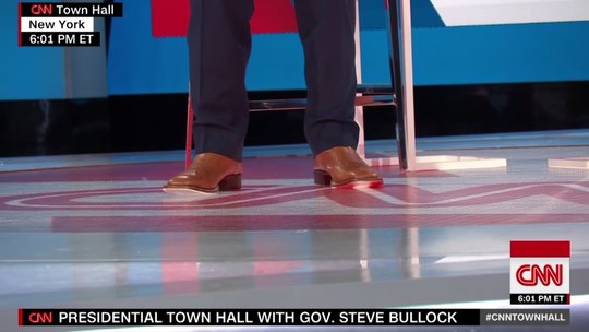 CNN noted Gov. Steve Bullock wore cowboy boots onstage Sunday for his town hall.