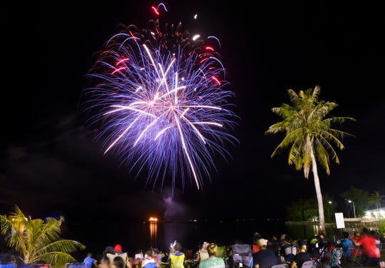 Those in attendance of the Freedom Rocks festival at Polaris Point, hosted by the U.S. Naval Base's Morale, Welfare and Recreation office, were also treated to a fireworks show on Thursday, July 4, 2019.