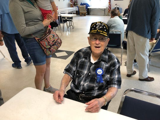Bob Stein at his 99th birthday party on August 24, 2019.