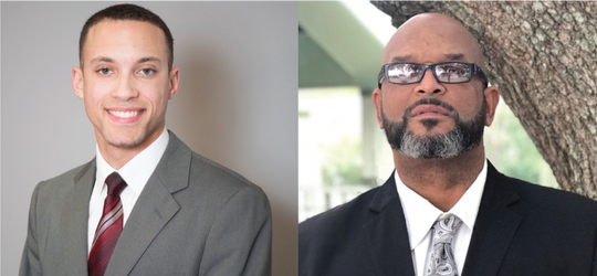 "James Thomas, left, and Abraham ""AB"" Rubin, right, are both running to represent District 5 on the new Lafayette Parish Council this fall."