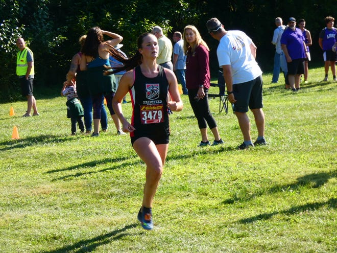 Fairfield Union's Madison Eyman finished first in the Newark Catholic Invitational to help lead the Falcons to the overall team championship on Saturday.