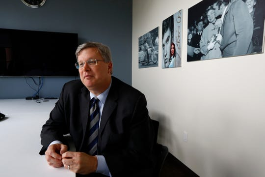 Mayor Jim Strickland at the Commercial Appeal offices in downtown Memphis on Monday, Aug. 26, 2019.