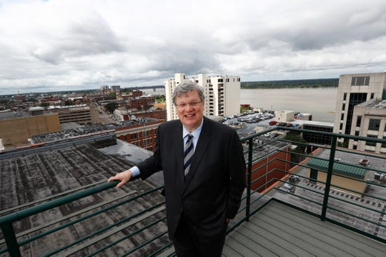 Mayor Jim Strickland on the rooftop of the Commercial Appeal office downtown Memphis on Monday, Aug. 26, 2019.