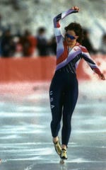 Bonnie Blair competed in four Olympics, winning five gold medals and a bronze.